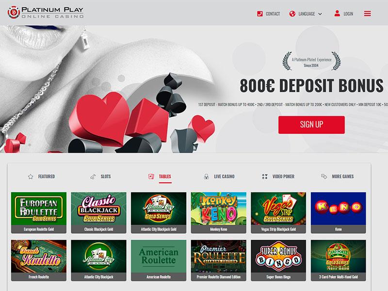 Platinum Casino Ipad